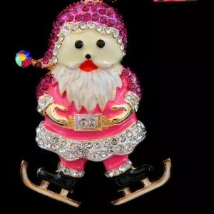 NWT🎅Betsey Johnson Christmas Santa Claus Necklace